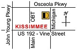 Kissimmee auto repair location map