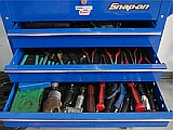 Snap-on toolbox drawers